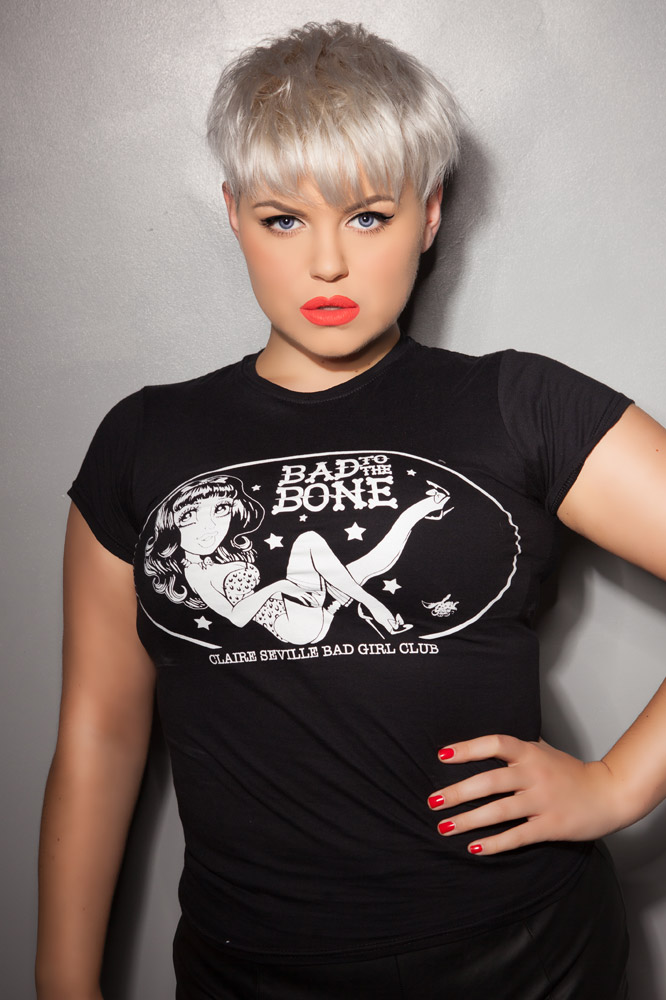 Bad to the Bone Ladies Fitted Tee